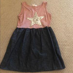 Gap kids dress. Stars flip from silver to gold.